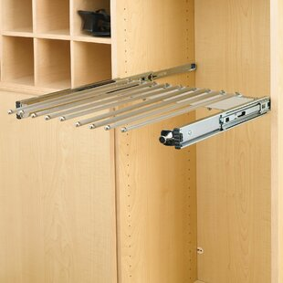 Pull-Out Pants Rack with Full-Extension Slide By Rev-A-Shelf