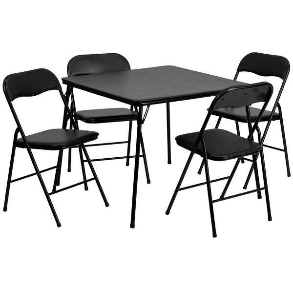 5 Piece 33.5 Square Folding Table Set by Flash Furniture