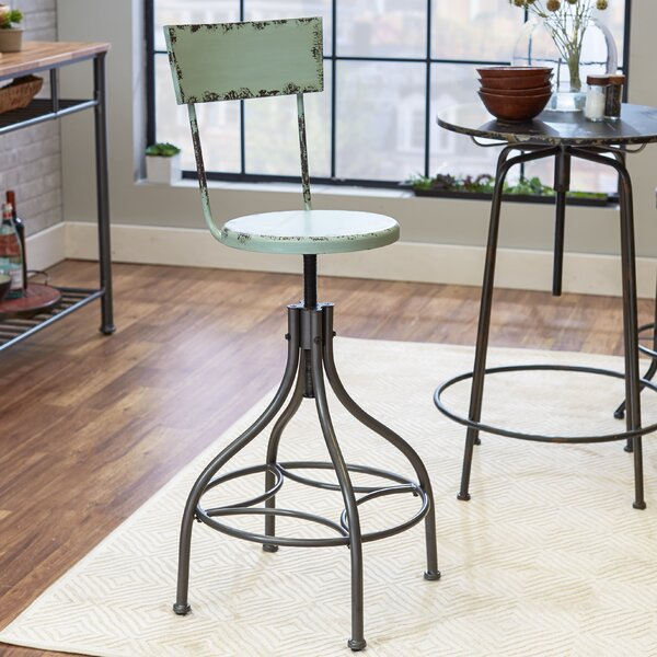 Leadville Adjustable Height Swivel Bar Stool by Trent Austin Design
