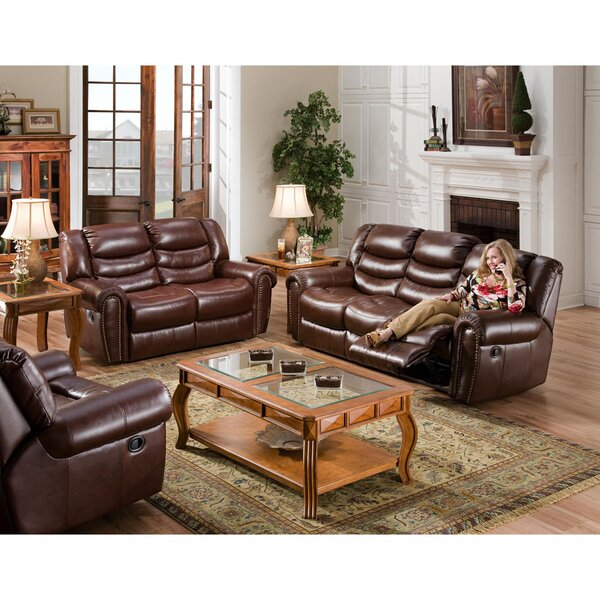 Herring Reclining 3 Piece Living Room Set by Alcott Hill
