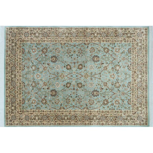 Arthen Hand Knotted Wool Blue Area Rug by World Menagerie