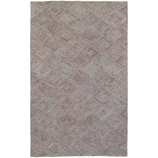 Colorscape Hand-Tufted Geometric Rust/Gray Area Rug by Pantone Universe
