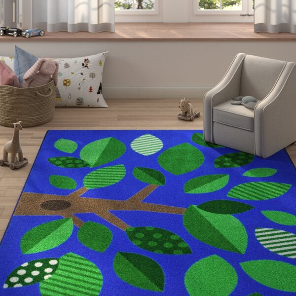 Altman Shady Grove Blue Area Rug by Zoomie Kids
