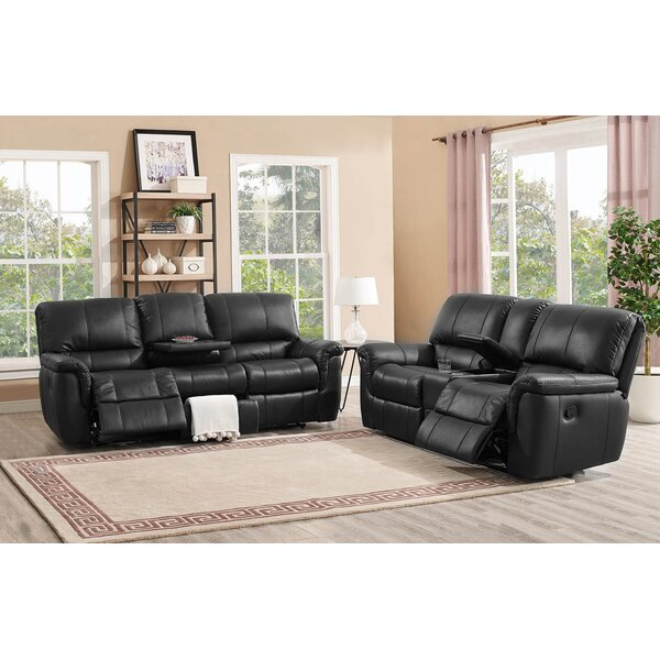 Averill Reclining Leather 2 Piece Living Room Set by Darby Home Co