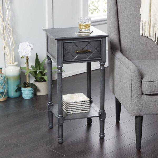 On Sale Devante Square Accent Table With Shelf