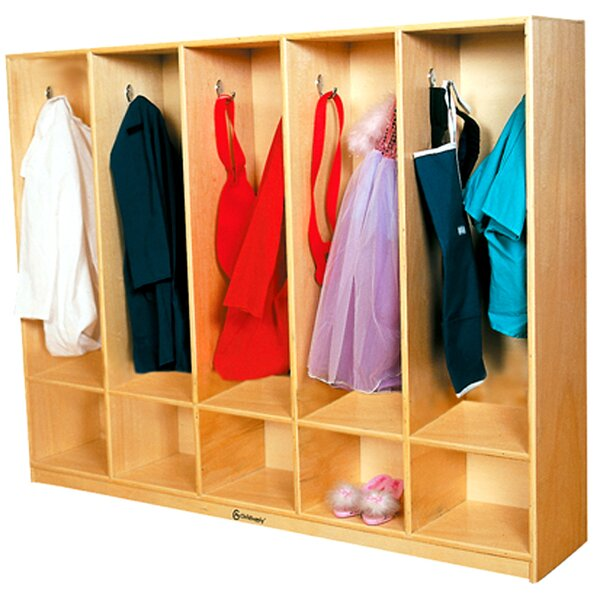 2 Tier 5 Wide Coat Locker by A+ Child Supply