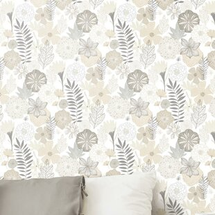 weese blooms 205 l x 165 w peel and stick wallpaper roll