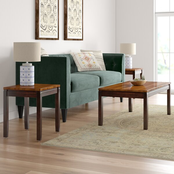 Hidalgo 3 Piece Coffee Table Set by Millwood Pines Millwood Pines