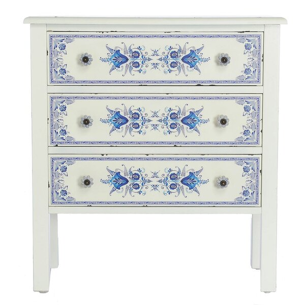 Fordyce French Countryside 3-Drawer Accent Chest by Bungalow Rose
