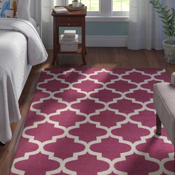 Montgomery Raspberry/Ivory Area Rug by Andover Mills