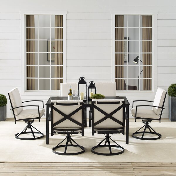 Freitag 7 Piece Dining Set with Cushions by Ivy Bronx