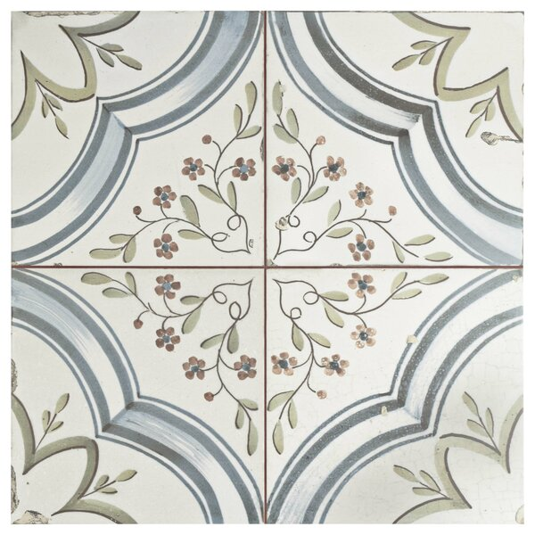 Alcaza 18 x 18 Ceramic Patterned Wall & Floor Tile