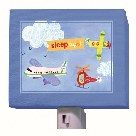 Sleep Tight Airplanes Night Light by Oopsy Daisy