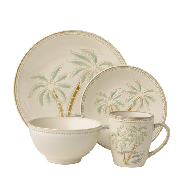 Palm Everyday 16 Piece Dinnerware Set, Service for 4 by Pfaltzgraff