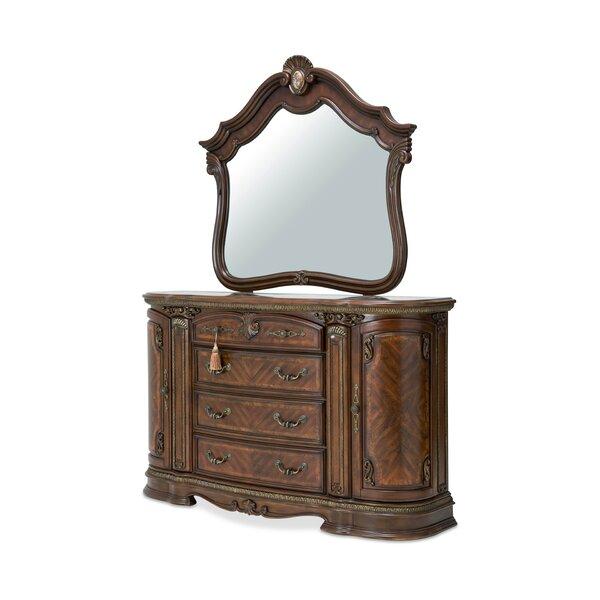 Bella Veneto 6 Drawer Dresser with Mirror by Michael Amini