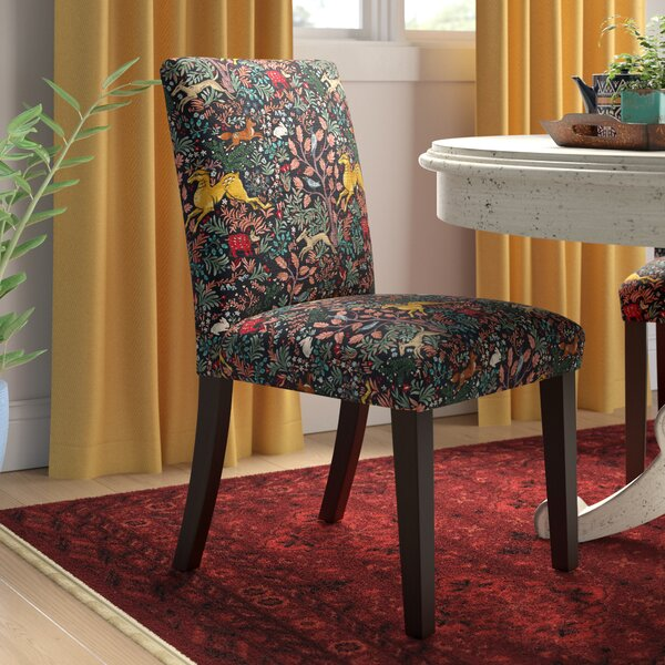 Bowmont Linen Upholstered Side Chair by World Menagerie