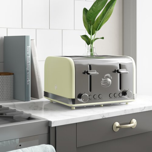 Swan Retro ST19020GN 4 Slice Toaster - Green