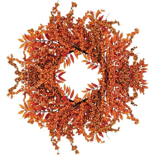 Fall 18 Berry Fern Wreath by Worth Imports