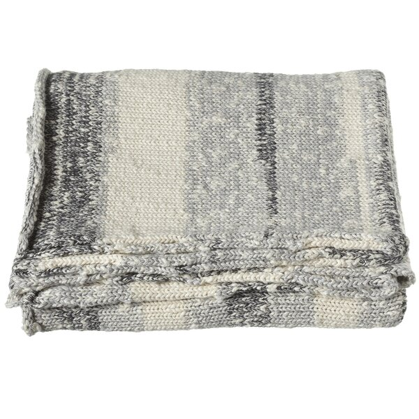 Imran Stripe Marled Knit Throw by Loon Peak