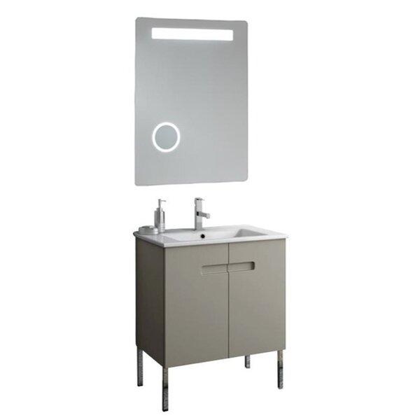 New York 26 Single Bathroom Vanity Set with Mirror