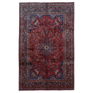 Avonmore Traditional Hand-Woven Rectangle Wool Red Area Rug