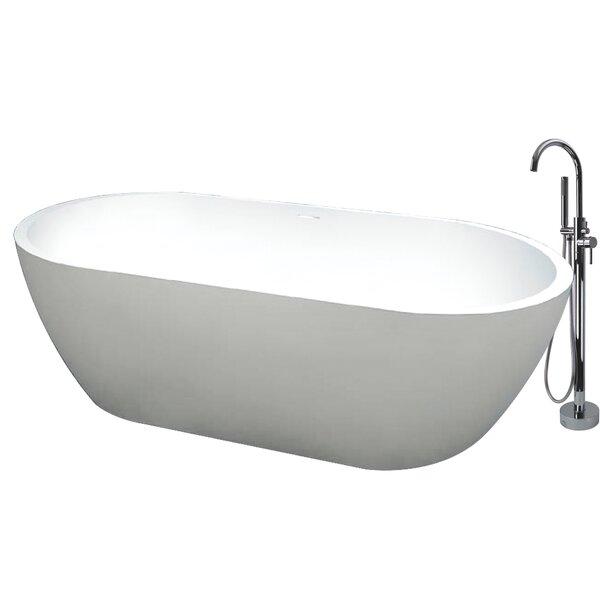 Sherwood 71 x 32 Freestanding Soaking Bathtub by Transolid