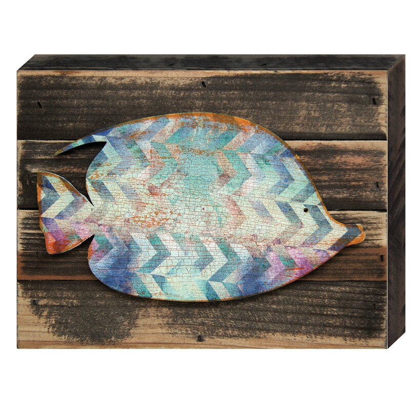 Designocracy Tropical Fish Wall Art Wooden Board Wall Décor | Wayfair