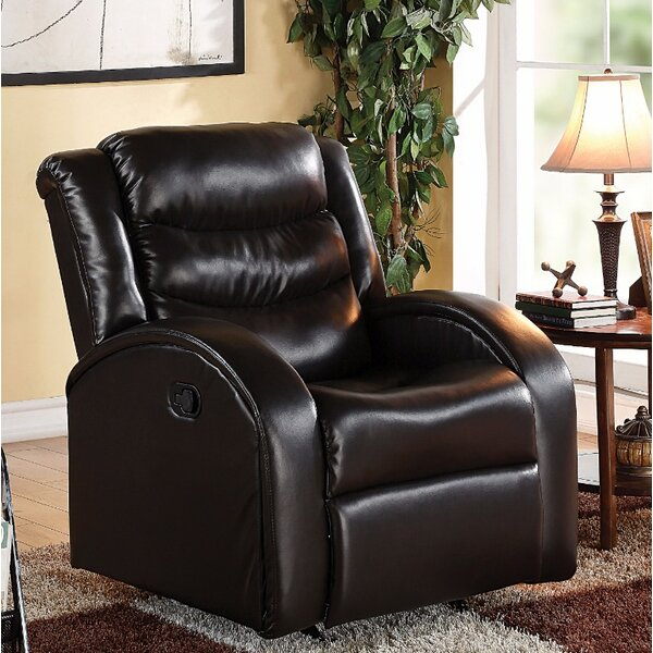Wolfenbarger Bonded Manual Glide Recliner by Latitude Run