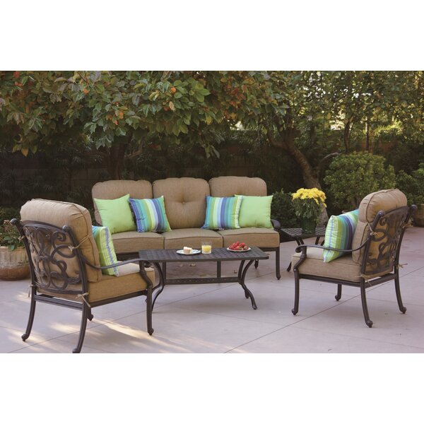 Calhoun 5 Piece Sofa Set with Cushions by Fleur De Lis Living Fleur De Lis Living