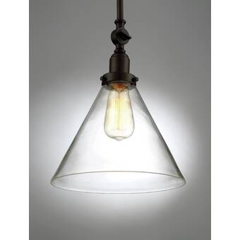 August Grove Remicourt 1 Light Single Dome Pendant Reviews Wayfair Ca