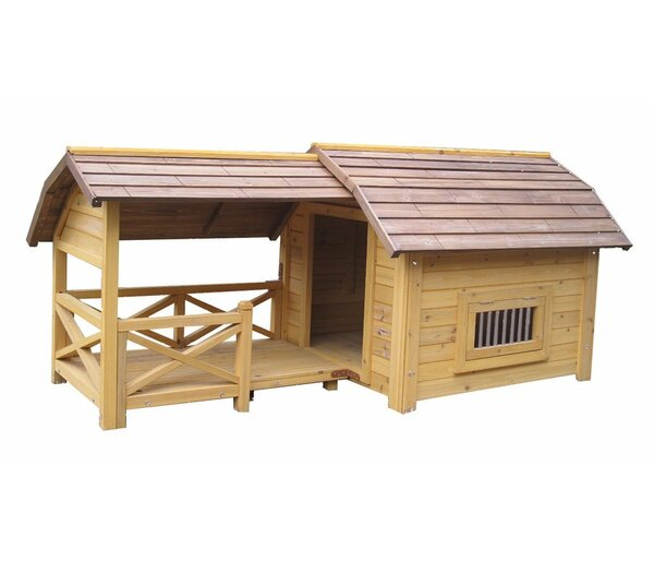 Houses & Paws™ Wooded Lux Dog House by Innovation Pet