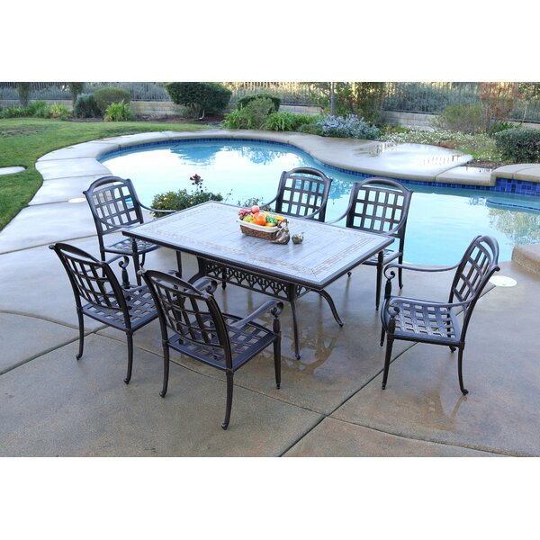Falzone 7 Piece Dining Set by August Grove
