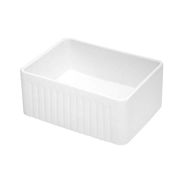 24 L x 18 W Farmhouse Kitchen Sink with Basket Strainer