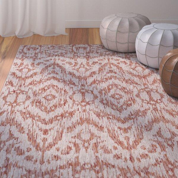 Summey Burnt Orange Indoor/Outdoor Area Rug by Mistana