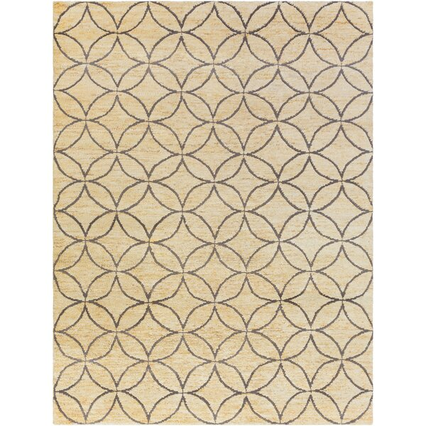 Shildon Hand-Knotted Beige Area Rug by House of Hampton