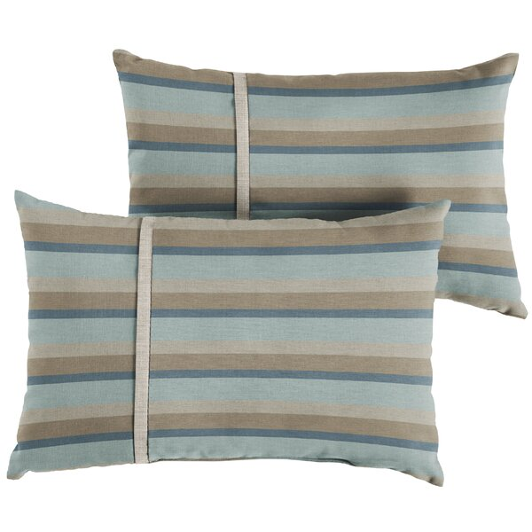Chauvin Indoor/Outdoor Lumbar Pillow (Set of 2) by Rosecliff Heights