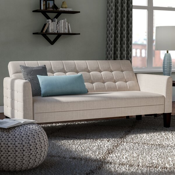 Trendy Tynemouth Convertible Sleeper Sofa by Ebern Designs by Ebern Designs