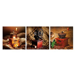 Coffee Roaster 3 Piece Photographic Print Set by Furinno