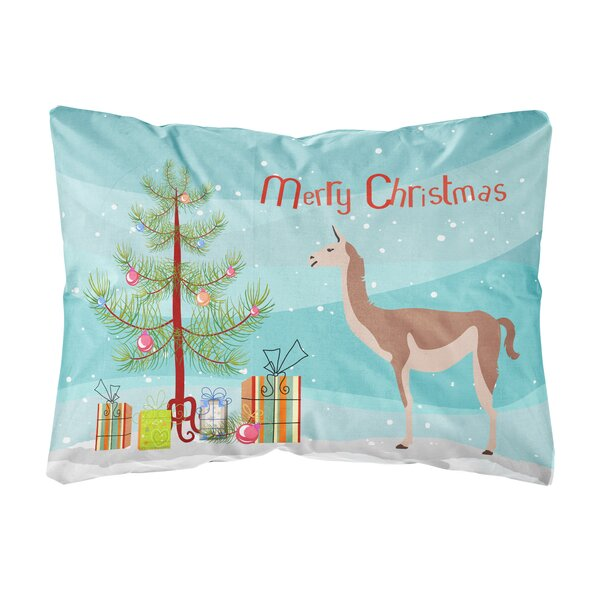 Onique Guanaco Christmas Indoor/Outdoor Throw Pillow by The Holiday Aisle