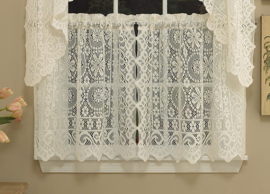 Sweet Home Collection Old World Style Floral Heavy Lace