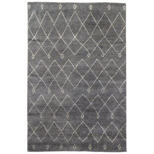 Affordable Charvi Hand-Knotted Moroccan Gray/White Area Rug By Union Rustic