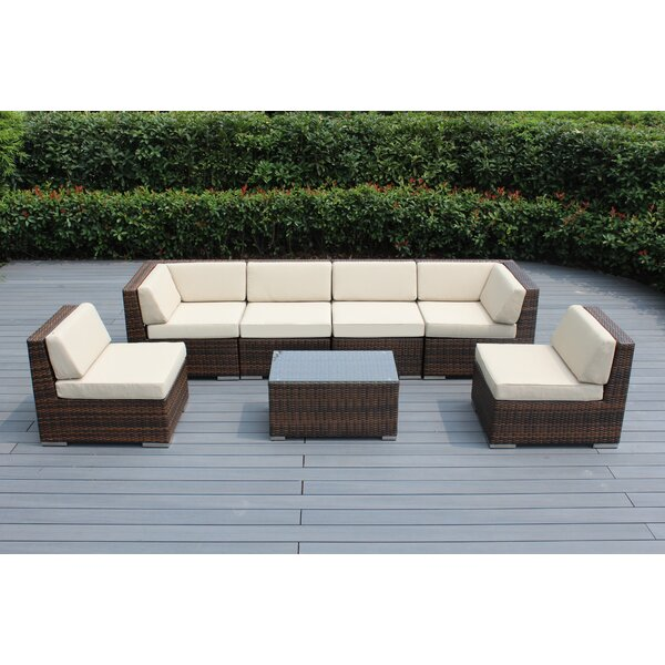 Barneveld 7 Piece Sunbrella Sectional Seating Group with Cushions by Orren Ellis