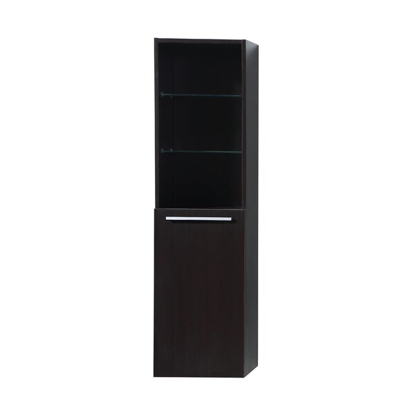 Silestine 15.7 W x 59.1 H Wall Mounted Cabinet by Virtu USA