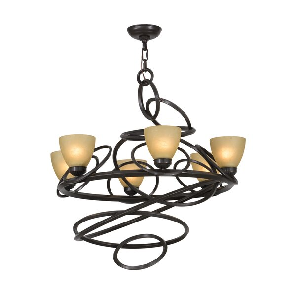 Anneau 6-Light Shaded Chandelier by Meyda Tiffany