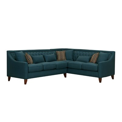 Willa Arlo Interiors Solid Shaped Sectional Upholstery Color Sectionals