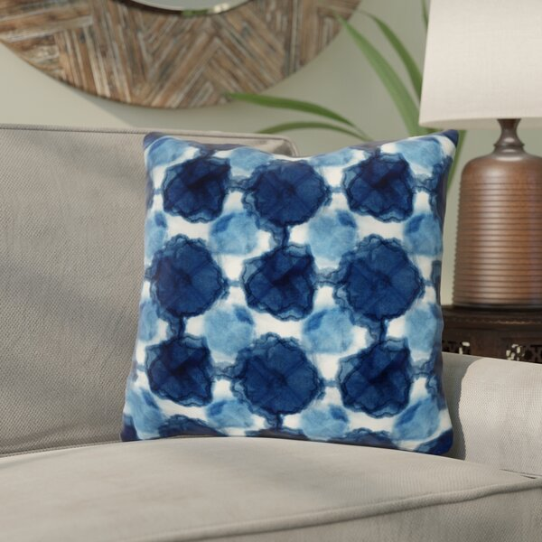 Rangel Circles Throw Pillow by Bungalow Rose