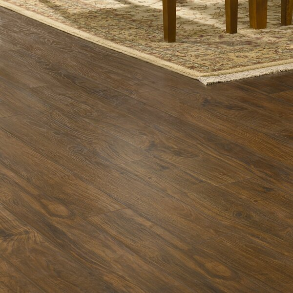 Revolutions 5'' x 51'' x 8mm Walnut Laminate Flooring in Classic by Mannington