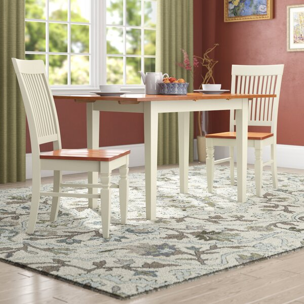Balfor 3 Piece Extendable Breakfast Nook Solid Wood Dining Set by Andover Mills Andover Mills
