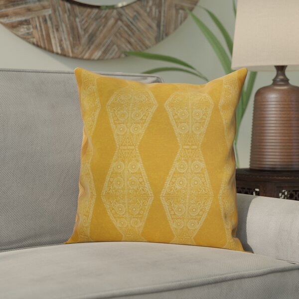 Soluri Pyramid Striped Geometric Outdoor Throw Pillow by Bungalow Rose