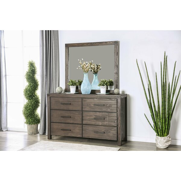 Triplett 6 Drawer Double Dresser with Mirror by Rosalind Wheeler